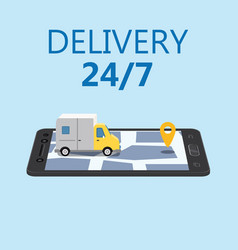 online delivery concept and shopping online vector image