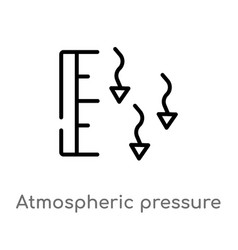 Outline atmospheric pressure icon isolated black vector