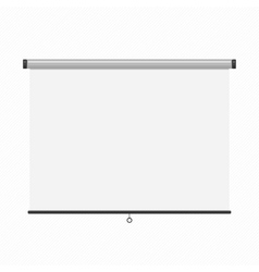 Projection presentation screen vector image