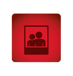 Red emblem people picture icon vector