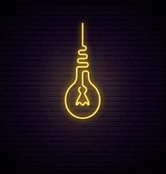 retro light bulb neon sign light signboard vector image