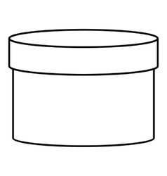 Round box icon outline style vector