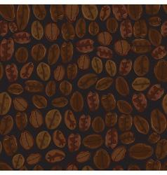 Seamless coffee bean vector