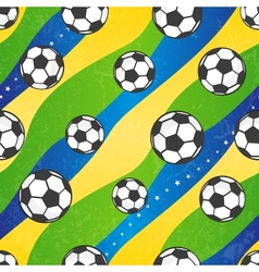 Seamless football pattern background vector