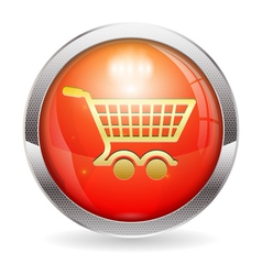 Shopping Cart Button vector image