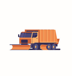 Snow plow truck icon professional cleaning road vector