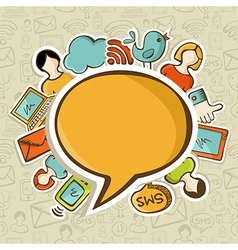Social media networks communication concept vector image vector image