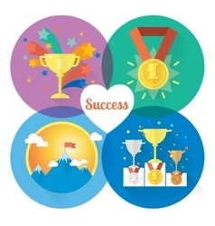 Success and win concepts vector