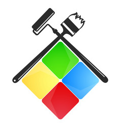 Symbol for painter vector
