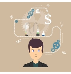 thinking science vector image