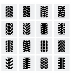Tire icon set vector image