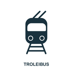 trolleyibus icon in flat style icon design vector image