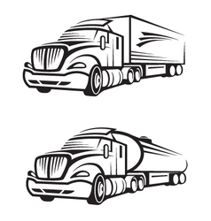 Truck and tank vector