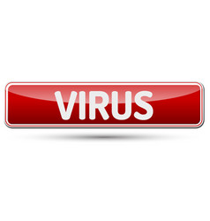 Virus - abstract beautiful button with text vector
