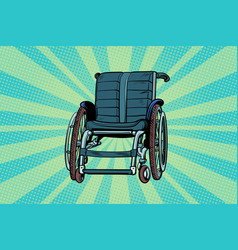 Wheelchair medicine and health transportation of vector