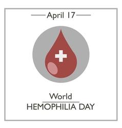 World Hemophilia Day vector image
