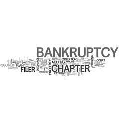a look at personal bankruptcy what to expect text vector image