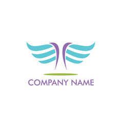 abstract wing fly company logo vector image