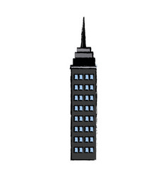 drawn building skyscraper business structure real vector image