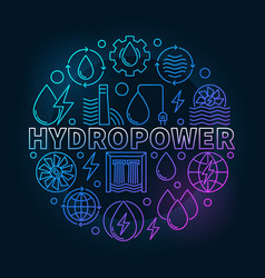 hydropower round colorful vector image vector image