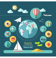 Planning a summer vacation travelling vector image vector image