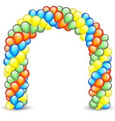 Birthday balloon party entrance vector image