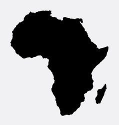 Africa islad map silhouette vector