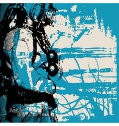 deep sea diver vector image vector image