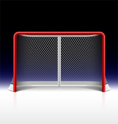 Ice hockey net goal on black vector image vector image