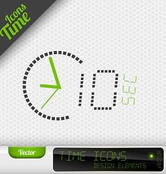 Time Icon 10 Seconds Symbol Design Elements vector image