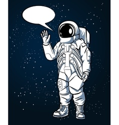 Astronaut in space suit hand drawn style vector image vector image