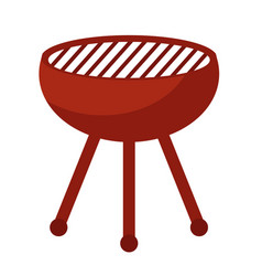 barbecue bbq icon flat style isolated on white vector image