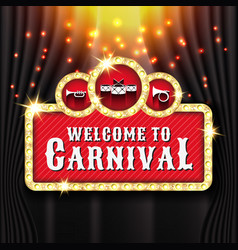 carnival banner background design with light bulb vector image