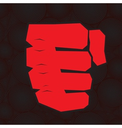red clenched fist vector image vector image