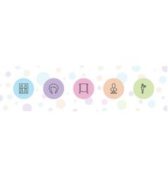 5 portrait icons vector
