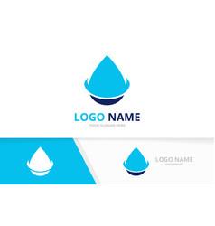 Abstract water drop logo aqua spa logotype design vector
