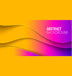 Abstract waved background fluid shapes vector