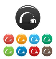 Arctic igloo icons set color vector