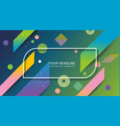 backgroundwith abstract shape vector image