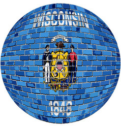 Ball with wisconsin flag vector