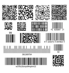 bar code types set vector image