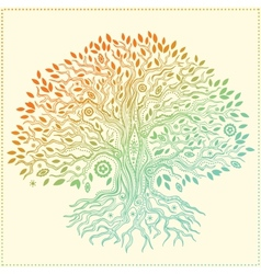 Beautiful vintage hand drawn tree of life vector