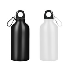 Bottle for drinking metal on a white backgroundve vector