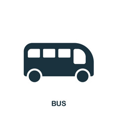 bus icon in flat style icon design vector image