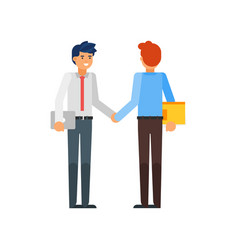 business partners shaking hands vector image