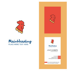 cock creative logo and business card vertical vector image