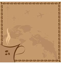 coffee and flight vector image