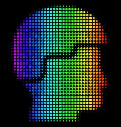 Colored pixel soldier helmet icon vector