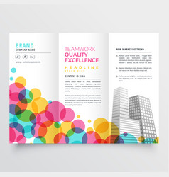 colorful tri fold brochure design made vector image