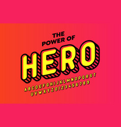 comics hero style font design alphabet letters vector image
